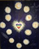 Alla Trosuppfattningar Är från Samma Källa - Vi Tror på det Goda - Vi strävar efter (de flesta av oss) Att förhålla oss till världen genom det Universella Hjärtat <3 Målning Av Jeanette Zetterlund R.I.P